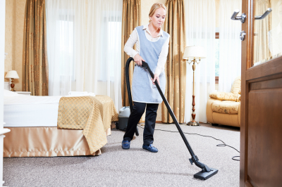 caregiver doing housekeeping
