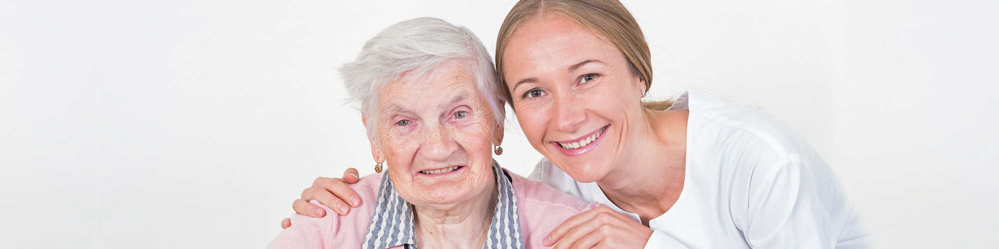 elder with her caregiver