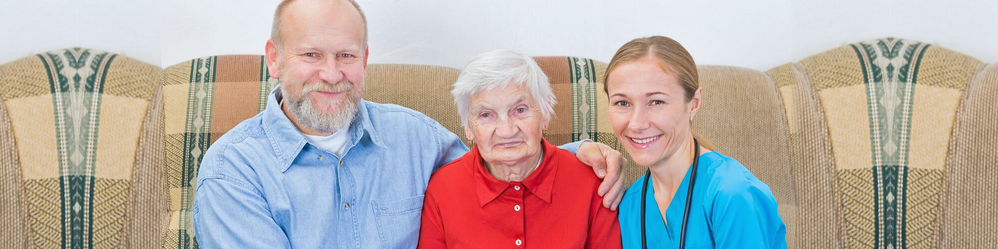 seniors and a caregiver
